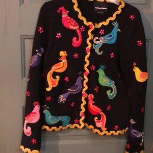Michael Simon Bird Sweater Size S